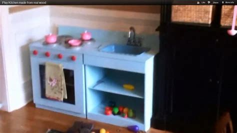 Play Kitchen Made From Real Woodbuilt To Last Step By
