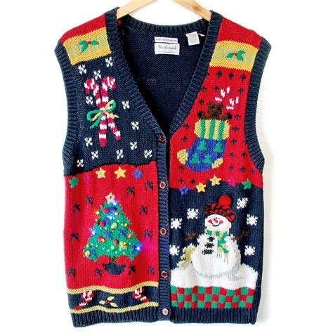 ugly light up christmas sweaters vintage 90s light up ugly christmas sweater vest the