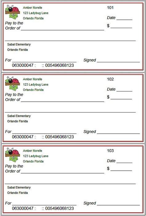 Check Template Blank Checks Template Printable Play Checks For