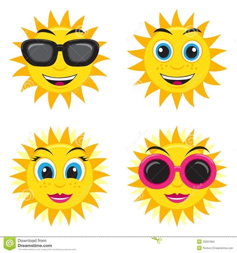 sun illustration stock vector image  laughing nose