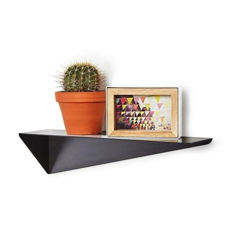 tableau memo cuisine design etagere murale metal noir geometrique umbra stealth 472006 040