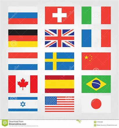 Flags Countries Around Illustration Vector Banner