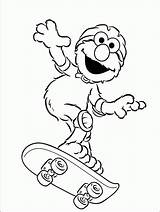 Elmo Coloring Pages Activity Children Printable Skateboard Face Printables Childrens Getcolorings sketch template