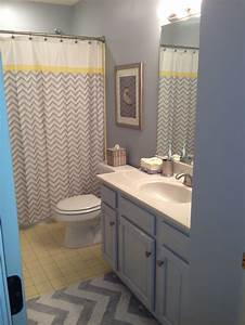 Yellow and grey bathroom redo ideas for yellow and grey for Gray and yellow bathroom