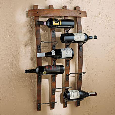 bottle barrel stave wall wine rack vino grotto