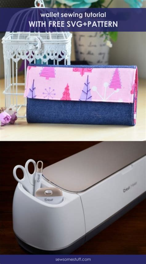 Interested in more free cricut projects? Super Simple Handmade Wallet Tutorial (Free Sewing Pattern ...