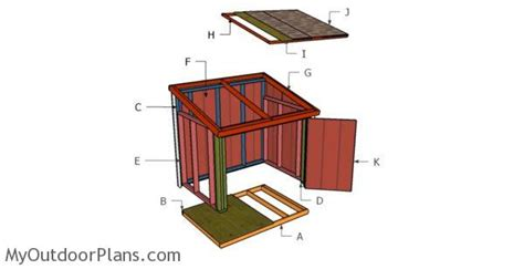 large generator shed roof plans myoutdoorplans