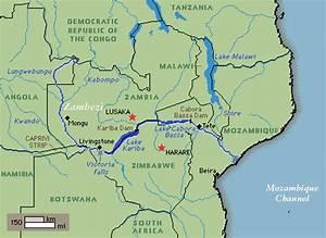 Information About Zambezi River Africa Map Yousense Info