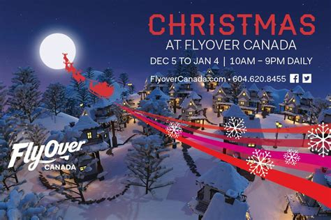 flyover canada celebrate christmas  vancouver