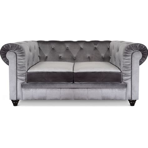canapé chesterfield en velours canapé 2 places chesterfield velours pas cher déco