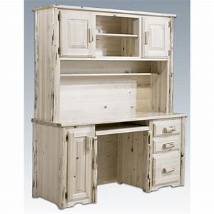 Montana Woodworks™ Computer Desk with Hutch, Unfinished