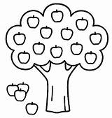 Apple Tree Coloring Popular Pages sketch template