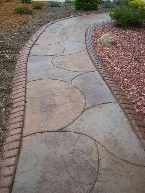 stained concrete walkway sted concrete edging along a decorative concrete walkway decorative concrete pinterest