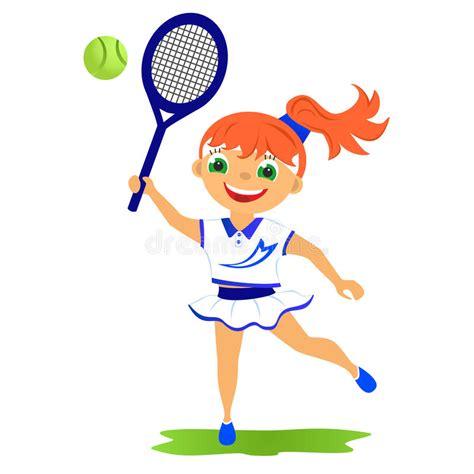 girl tennis player stock illustration illustration