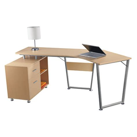 office depot desks realspace brent dog leg desk oak by office depot officemax