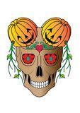 Skull Art Wedding Day The Dead Stock Illustration