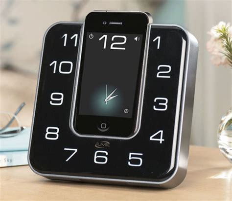 ilive dock disguises your iphone as a clock