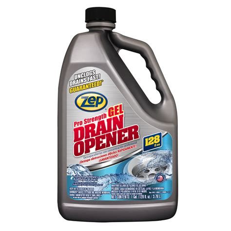 drain cleaning shop zep commercial 128 fl oz drain cleaner at lowes com
