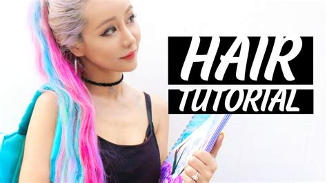 unicorn hair tutorial youtube