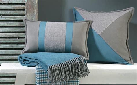 coussin rectangulaire de luxe 233 bleu et gris 2