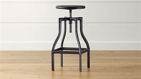 Black Looking Stool by Turner Black Adjustable Backless Bar Stool In Bar Stools