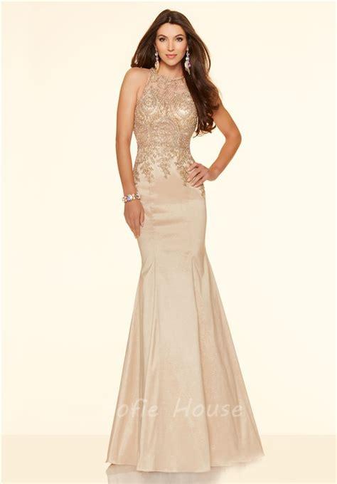 Light Grey Suit Wedding by Mermaid High Neck Black Taffeta Gold Lace Applique Prom Dress