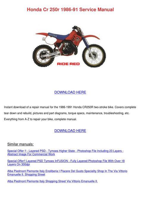 how to download repair manuals 2012 honda cr v engine control honda cr 250r 1986 91 service manual by lillyherrin issuu