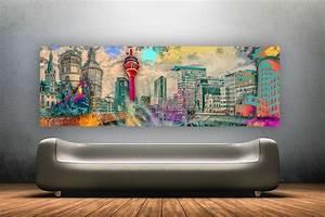 Wandbilder Zum Kleben : wandbilder d sseldorf im pop art style als leinwandbilder ~ Lizthompson.info Haus und Dekorationen