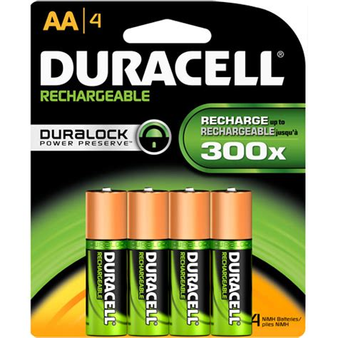 duracell rechargeable aa batteries 4 count walmart