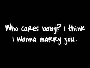 Marry You - Bruno Mars Lyrics I'm sorry if i made any ...