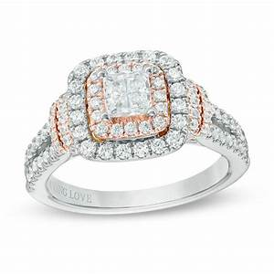 vera wang love collection 1 1 5 ct tw princess cut With vera wang wedding rings love collection