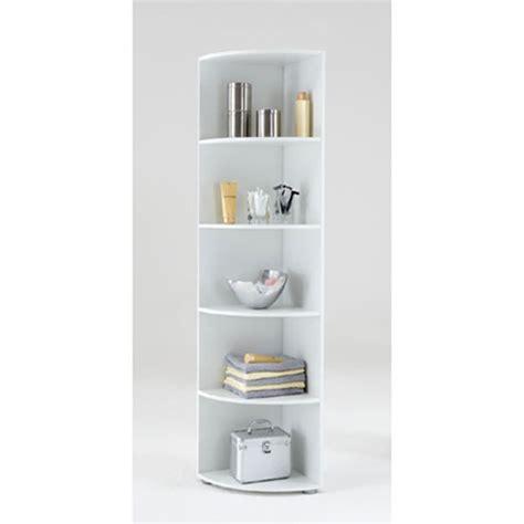 white corner bookshelf ecki2 wooden corner shelf in white with five compartments