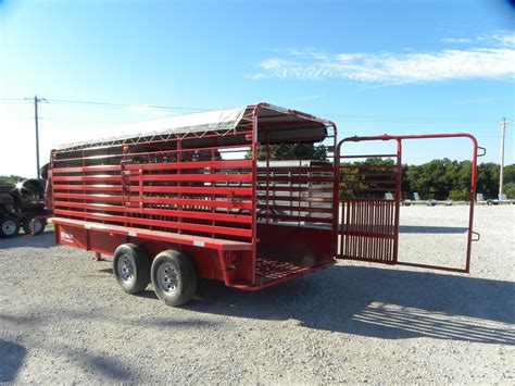 Rubber flooring is durable, which is a big plus for trailer flooring. Livestock Trailer - 2020 W-W Trailer 6x16 Gooseneck Stock ...