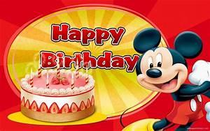 Mickey Mouse Birthday Wallpaper - WallpaperSafari
