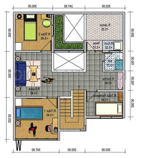 denah rumah minimalis idaman gambar desain rumah
