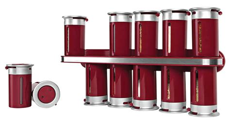 Kamenstein 12-can Stainless Steel Magnetic Spice Rack