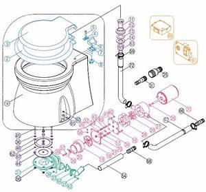 Tmc Manual Marine Toilet - Vertical Pump