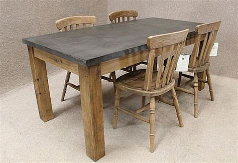 ZINC TOPPED TABLE, RECLAIMED PINE BASE AND AVAILABLE IN