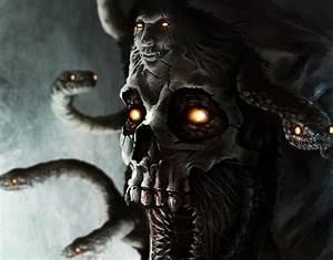 Horror medusa snake mythology fantasy demon skull monster ...
