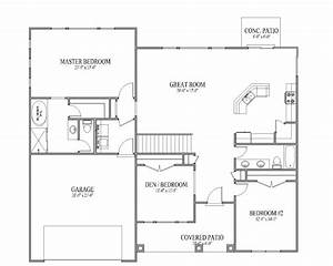 3 bedroom open floor house plans 2017 house plans and With image of 3 bedroom plan