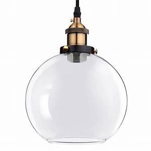 Vintage industrial glass ceiling pendant chandelier light
