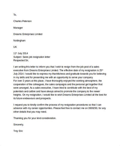 resignation letter sle resignation letters sles professional resignation letter