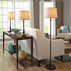 better homes and gardens 3 piece lamp set 1 floor and 2 With better homes and gardens floor lamp with table