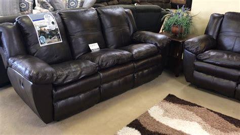 Catnapper 419 Italian Top Grain Leather Reclining Sofa
