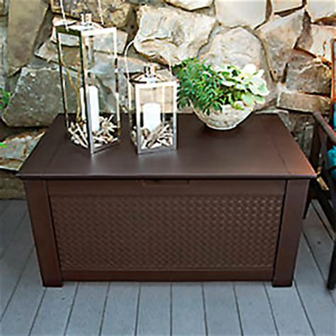 rubbermaid patio chic storage bench deck box rubbermaid patio chic plastic storage bench