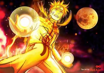 Naruto Uzumaki Gold Mode Bijuu Anime Jinchuuriki