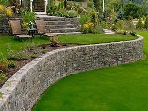 Stone landscaping design retaining wall ideas