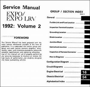 1992 Mitsubishi Expo  Expo Lrv Body Manual Original