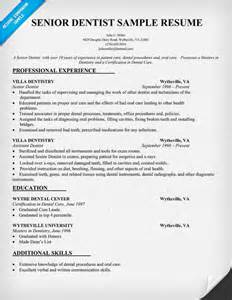 cv format for inplant senior dentist resume sle dentist health resumecompanion resume sles across all