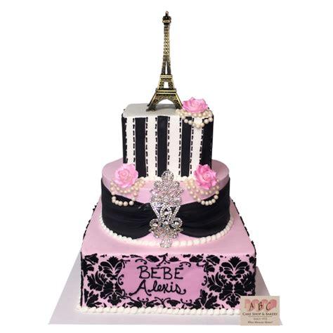 paris themed birthday cake abc cake shop bakery